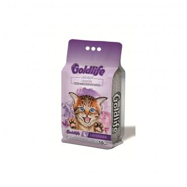 Goldlife Premium Lavender Kedi Kumu 10 Lt ince taneli