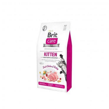 Brit Care Kitten Tavuk ve Hindi Etli Tahılsız Yavru Kedi Maması 2 Kg + 5 Adet Temizlik Mendili