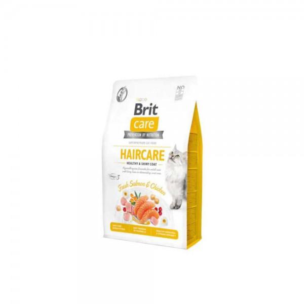 Brit Care Haircare Hypo-Allergenic Deri ve Tüy Sağlığı için Tahılsız Yetişkin Kedi Maması 2kg