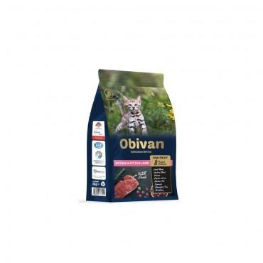 Obivan Low Grain Kuzu Etli Yavru Kedi Maması 1 KG x 6 Adet