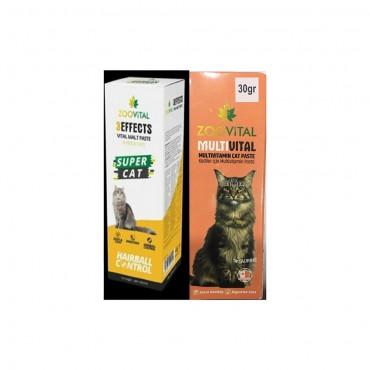 Zoovital Malt Paste 30 gr + 30 gr Multivitamin Kedi Macunu
