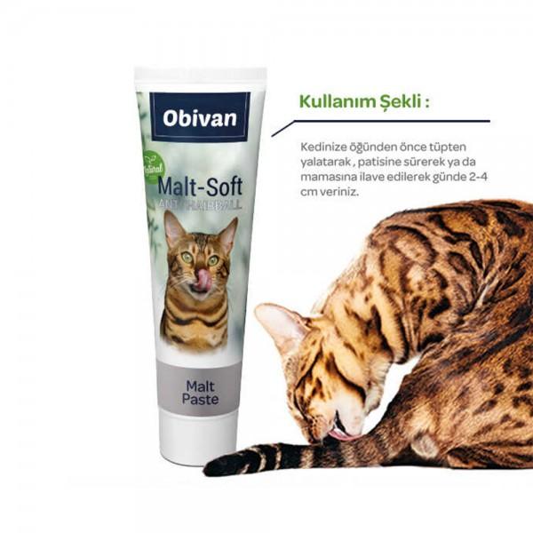 Obivan Natural Anti-Hairball Kedi Maltı 100 GR