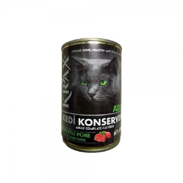 Krax Kuzu Etli Kedi Konservesi 400 gr