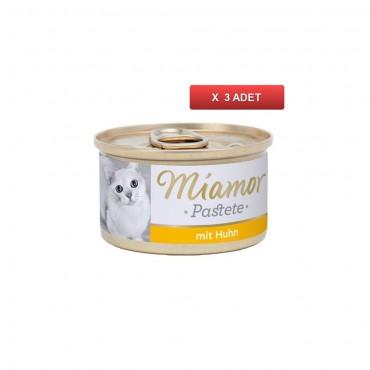 Miamor Pastete Tavuklu Yetişkin Kedi Konservesi 85 Gr (3 ADET)
