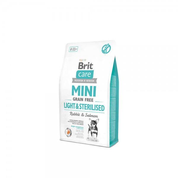 Brit Care Mini Light Kısırlaştırılmış Küçük Irk Köpek Maması 2 Kg + 2 Adet Temizlik Mendili